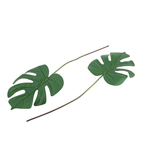 AUNMAS Künstliche Blätter Tropical Nordic Style Kunststoff Fake Leaf Simulation für Geburtstag Hochzeit Prom Jungle Beach Events Dekorationen