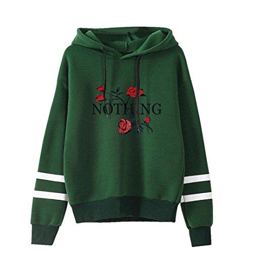 Hoodie Women, TUDUZ Newest Fashion Womens Rose Print Long Sleeve Hoodie Sweatshirt Jumper Hooded Pullover Tops Blouse