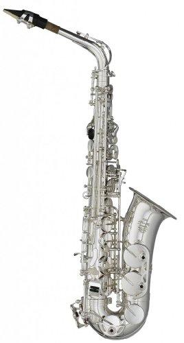 Stagg 21020 WS-AS211S Altsaxophon (Hoch-Fis Klappe, verstellbarer Daumenhaken) silber (Verstellbare Klappe)