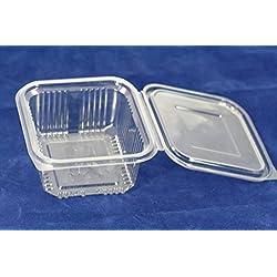 Az pack Lot de 70boîtes alimentaires en plastique, jetables avec couvercles, 500ml