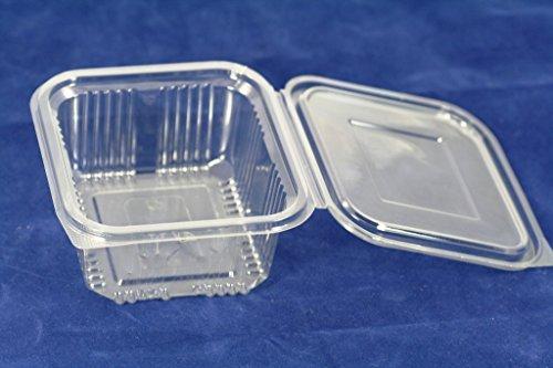 (Einwegverpackungen aus Kunststoff mit Deckel, Aufbewahrungsboxen für Kekse, Salat, Lieferdienste, Fast Food, 500ml, 70Stück)