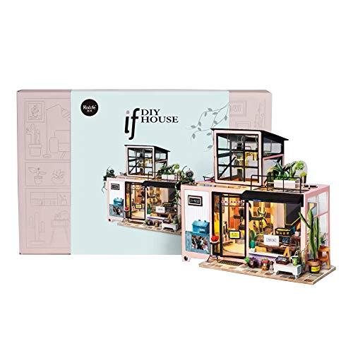 CX TECH Handcraft House Building Hobbyists DIY Puppenhaus Modell Miniaturmöbel mit LED-Licht-Kit Kinder Teenager Erwachsene Beste Geburtstagsgeschenke