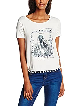 Only Onlasta S/S Tassel Top Box Ess, Camiseta para Mujer