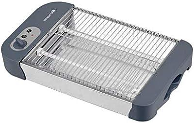 Grunkel - Tostador plano para todo tipo de pan y bollería de 600W de potencia. Temporizador de tostado con 6 niveles y bandeja recoge migas. Modelo TSP-G2