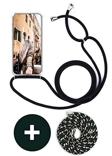Handykette Handyhülle mit Band für Huawei Mate 10 Lite Cover - Handy-Kette Handy Hülle mit Kordel Umhängen -Handy Halsband Lanyard Case/Handy Band Halsband Necklace