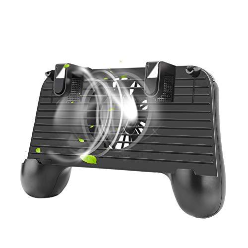 PUBG Mobile Controller, Mobile Game Controller L1R1 Mobile Trigger Joystick für PUBG Fortnite Spiele mit Kühlventilator und 2000 mAh Power Bank für iOS und Android (10,2-16,4 Zoll) 2000 Mah Mobile