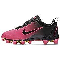 8809ff245 Nike Girls Hyperdiamond 2 Keystone Softball Cleat Black Pink Blast Vivid  Pink Size 1.5