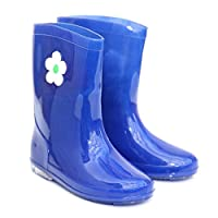 Blue girls wellies with flower design