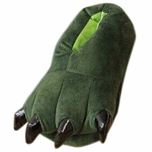 Adulto unisex morbido velluto artiglio animale zampa autunno inverno scarpa slipper addensare caldo