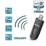 Showyun 2 en 1 Adaptateur Bluetooth Transmetteur et Récepteur Audio V5.0 avec aptX...