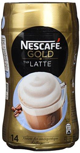 Nescafé Gold Typ Latte löslicher Bohnenkaffee (aus erlesenen Kaffeebohnen, koffeinhaltig, mit...