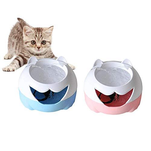 Liuxi Dispensatore dell'Acqua del Gatto della Fontana dell'animale Domestico, bevitore di Acqua Elettrico del distributore di Acqua di Filtro Automatico del Cane del Filtro per Cani di Gatto 3L