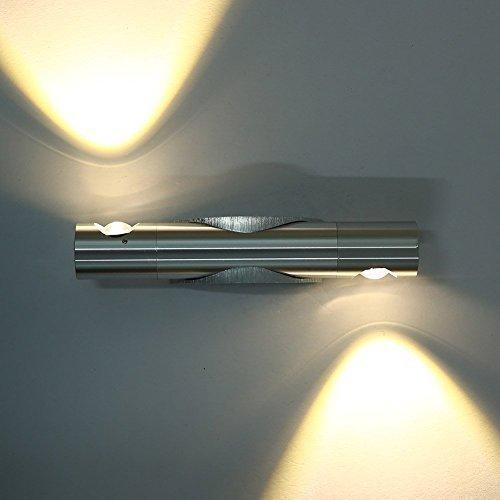 Lightess Apliques de Pared Lámpara en Moda de Aluminio 6W 2 Granos...