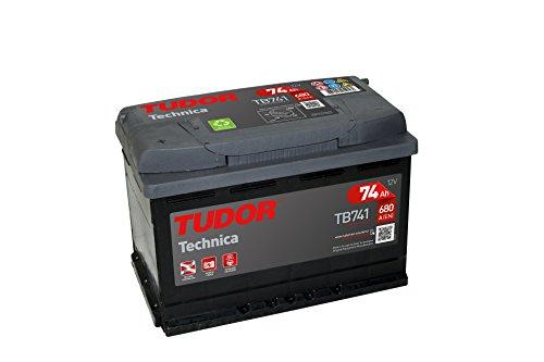 batteria per auto Tudor exide TECHNICA AH, 12V. dimensioni: 278X 175X 190. morsetto sinistra.