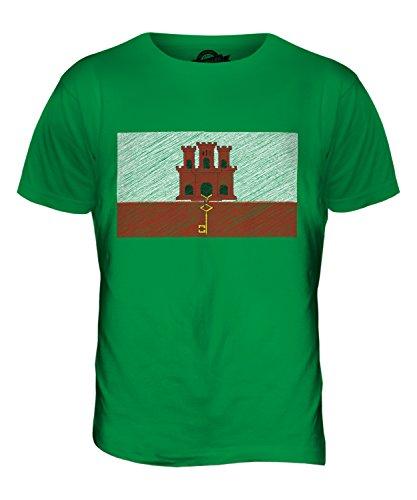 CandyMix Gibraltar Kritzelte Flagge Herren T Shirt Grün