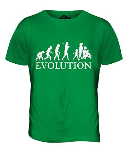 CandyMix Alleinerziehender Mutter Evolution Des Menschen Herren T Shirt Grün