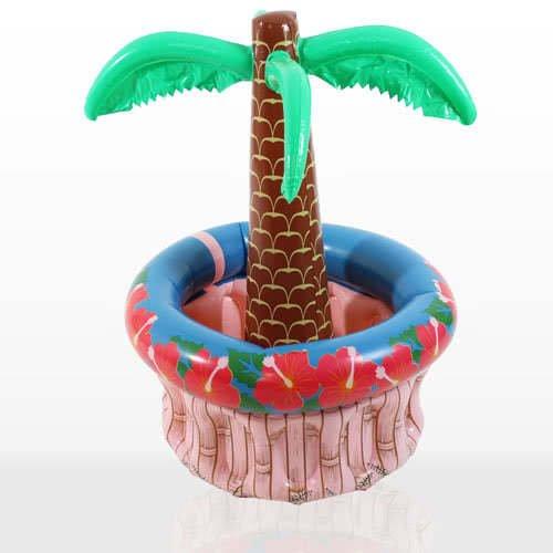 Accessorio palma hawaii gonfiabile porta lattine bibite birra 180 cm *16696