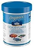 Söll 16180 Organix Cichlid Flakes - Aquariumfutter - Zierfischfutter für Barsche - Flocken - 270 ml