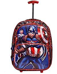 79babea514 Mybag 5D Marvel Captain America Trolley Schoolbag for Boys Girls 42L