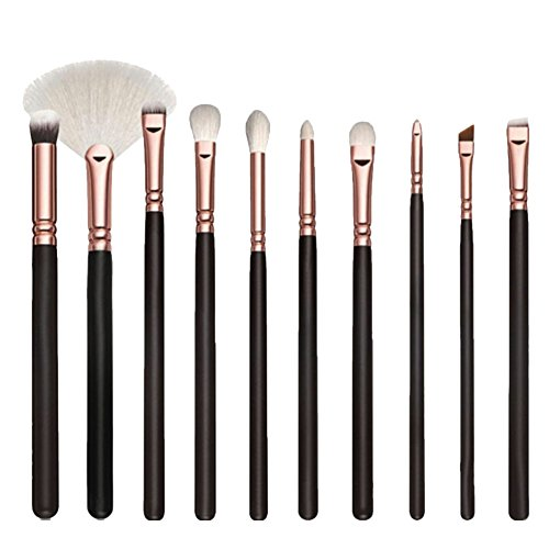 Qiao Nai (TM) Set 10Pcs Pro Pinceaux Maquillage Pour Yeux Ombre Paupières Sourcils Cosmetique Makeup Brush