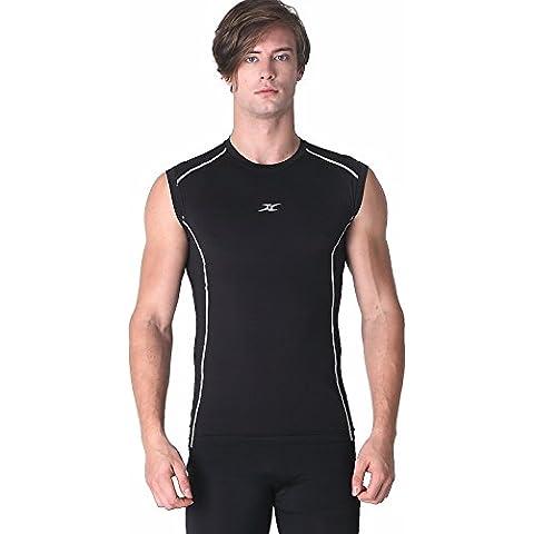 Maglia senza maniche a compressione da uomo, strato Base, magliette,