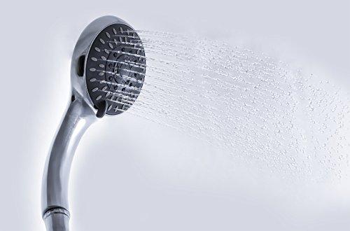 Preisvergleich Produktbild Duschbrause Duschhandbrause,  Dusch Handbrause Duschkopf verchromt,  hochwertig,  extra leicht,  5 Dusch-Funktionen