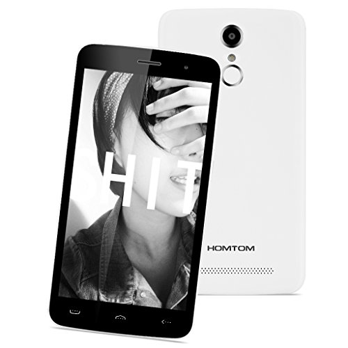 HOMTOM-HT17-Pro-4G-Smartphone-Libre-Multitctil-Android-60-Pantalla-IPS-55-13GHz-MT6737-Quad-Core-2GB-RAM-16GB-ROM-80MP-Cmara-GPS-WIFI-OTG-Touch-ID-Dual-SIM-Blanco