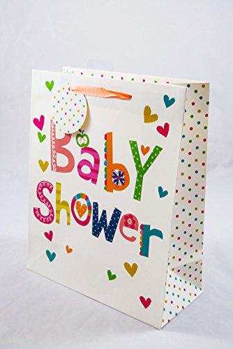 Baby-Shower Geschenk, Tasche, groß, mehrfarbig, Jungen, Mädchen, Mama, pfiffiges Geschenk, Geschenkparty, Babyparty