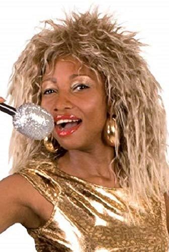 Turner Kostüm Tina Kleid - Damen 1980s Jahre Tina Turner prominent berühmt Person Kostüm Outfit Perücke