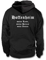 shirtloge - HOFFENHEIM - Meine Liebe, meine Heimat, mein Verein - Fan Kapuzenpullover - Größe S - 3XL