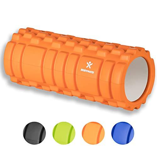 BODYMATE Faszienrolle mit GRATIS E-Book - Classic ORANGE - Foam-Roller zur Triggerpunkt-Selbst-Massage - Massage-Rolle für myofasziales Training - Faszien-Rolle für Verklebungen und Muskelbeschwerden - Sport-massage-roller
