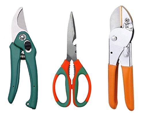 Truphe Garden Scissor, Garden Pruner, Garden Cutter Gardening Cut Tools (Set Of 3)