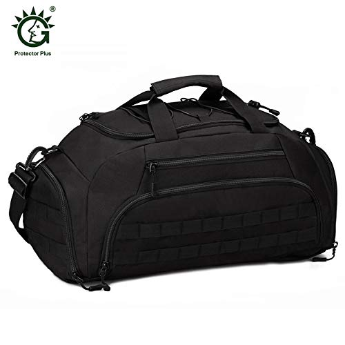 KNOSSOS 35L Military Travel Bag Luggage Travel Duffle Bags Handbags Camping  Backpack - Black c50f086cbb85e
