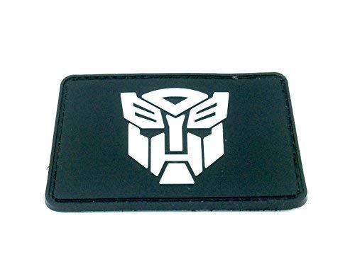 Patch Nation Optimus Prime Transformers PVC Airsoft Paintball Klett Emblem Abzeichen (Schwarzer Transformers-emblem)