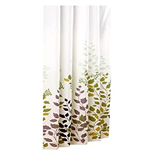 SODIAL(R) Shower Curtain Maple Leaf Waterproof Anti-Mildew, 240 cm Width x 180 cm Height