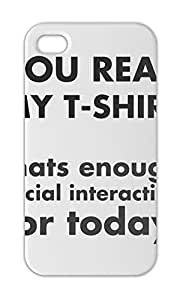 You Read My Funny Slogan Iphone 5-5s plastic case