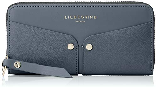 Liebeskind Berlin Damen Duo Sally Wallet Large Geldbörse, Blau (Urban Blue) 2x10x19 cm