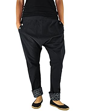 virblatt Pantalones cagados Mujer Elegantes Pantalones Estilo Harem – PAI