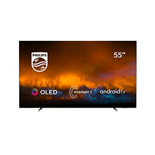 Oferta de Philips 55OLED804/12 Televisor Smart TV OLED 4K UHD, 55 pulgadas (Android TV, Ambilight 3 lados, HDR10+, Dolby Vision, P5 Perfect Picture Engine, Google Assistant, Compatible con Alexa)