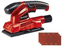 Einhell Levigatrice TC-OS 1520/1 (150 W, numero di oscillazioni 24.000/min, velcro e dispositivo di serraggio, impugnatura antiscivolo, incluse: 3 carte abrasive (P120))