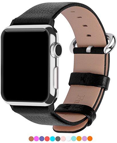 Apple Watch Cinturino, Fullmosa®Yan Serie Cinturino di Vera Pelle y Particella Sostituzione di Polso con Connettore Acciaio Inossidabile para Apple Watch iWatch Serie 1 Serie 2