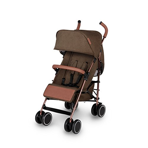 Ickle Bubba Discovery Compact and Lightweight Stroller with Rose Gold Frame, Khaki Best Price and Cheapest