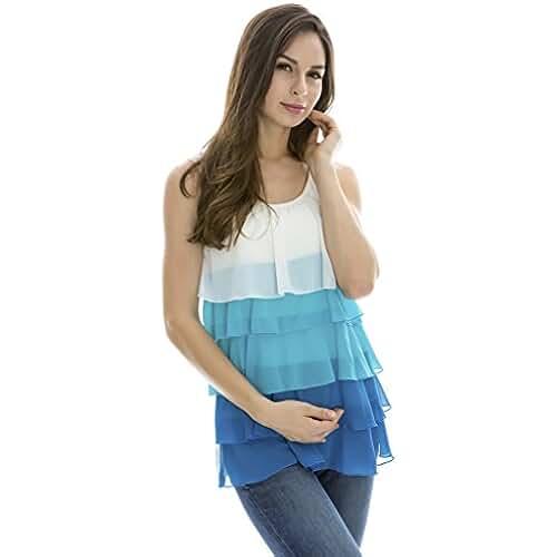 Bearsland - Camiseta de verano sin mangas de mujer, para la lactancia materna
