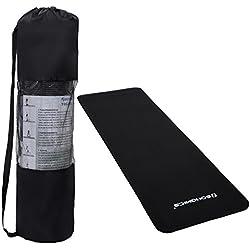 Colchoneta de Yoga Esterilla Para Pilates Negro