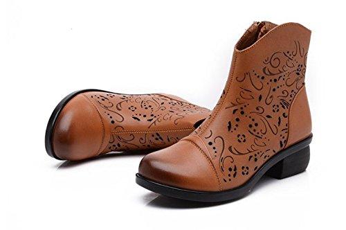 Creux les dames et les bottes froid/Maman chic et chaussures de fond mou/Anciennes sandales de l'été C