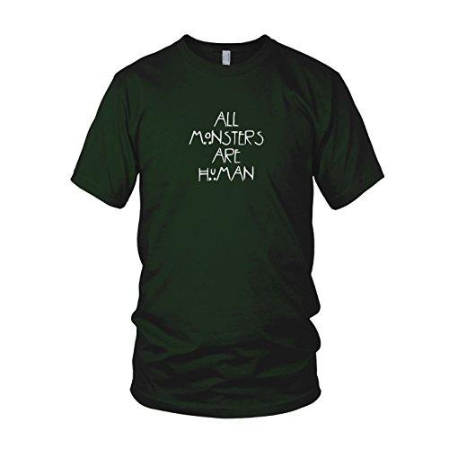 All Monsters are Human - Herren T-Shirt Dunkelgrün