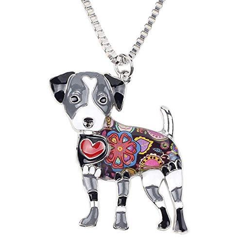 ATEZIEU Bulldog Halskette Jack Russell Dog Halskette American Bulldog Charm Choker for Women & Girls Puppy Animal Party Anhänger Schmuck Valentines Geburtstagsgeschenke für Hundeliebhaber