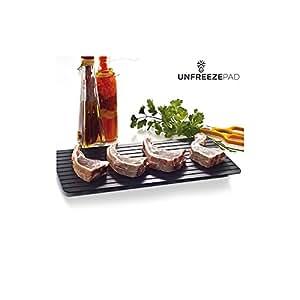 Appetitissime unfreeze Pad plaque descongeladora de nourriture, aluminium, gris, 35.5x 1x 20.5cm
