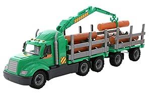 Polesie Polesie55675 Mike - Camión de Madera con Remolque