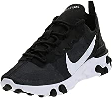 Nike React Element 55, Women's Athletic & Outdoor Shoes, Black (Black/White 003)